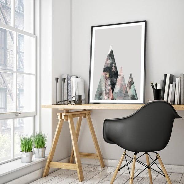 Plakát v dřevěném rámu Lycium, 38x28 cm
