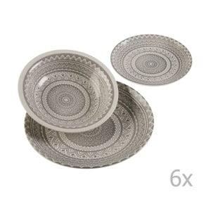 Set 18 keramického nádobí Versa Vajilla Gris