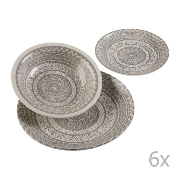 Set 18-dielneho keramického riadu Versa Vajilla Gris