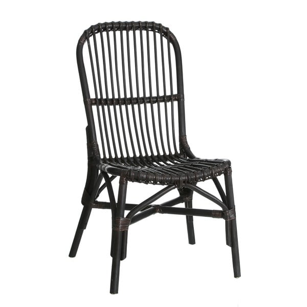 Černá ratanová židle Ixia Room