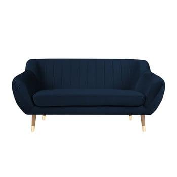Canapea cu 2 locuri Mazzini Sofas Benito, albastru închis de la Mazzini Sofas