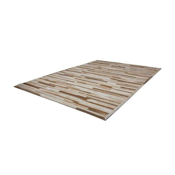 Kožený koberec Eclipse Cream, 160x230 cm