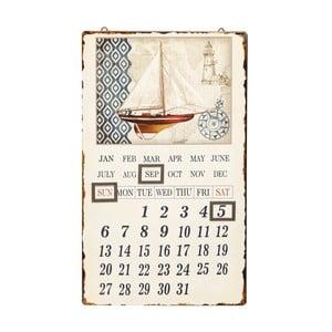 Nástěnný kovový kalendář Novita Spinnaker, 30x50cm