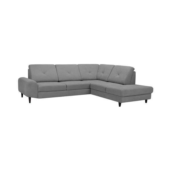 Světle šedá rohová rozkládací pohovka Windsor & Co Sofas, pravý roh Beta
