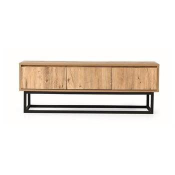 Comodă TV cu aspect de lemn de pin Kalune Design Tilsim, lungime 140 cm, natural imagine