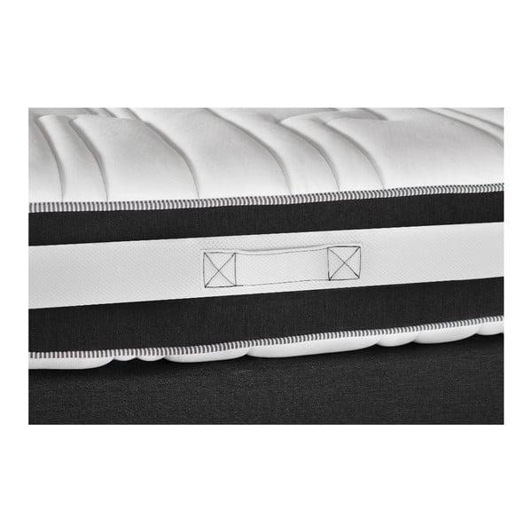 Tmavě šedá postel s matrací Stella Cadente Mars Saches, 160x200 cm