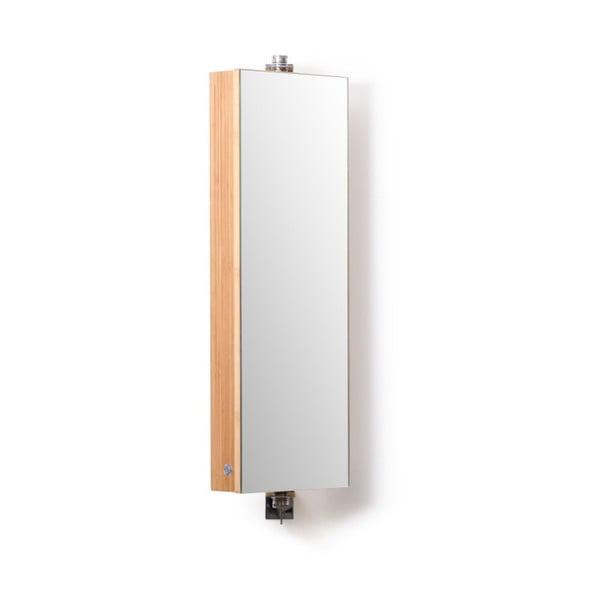 Bambusová koupelnová skříňka se zrcadlem Wireworks Domain Bamboo, výška 71 cm