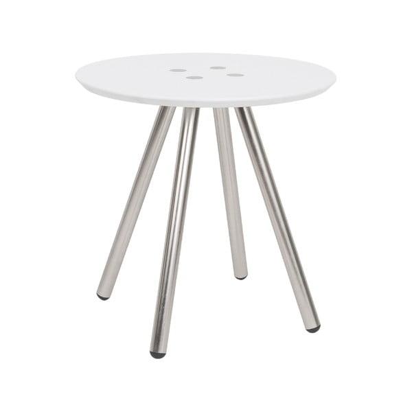 Biały stolik Letmotiv Sliced, ø 40 cm