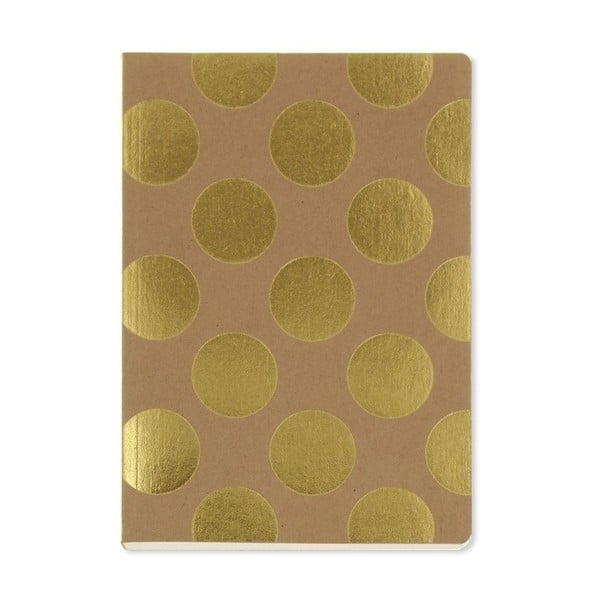 Notes A5 GO Stationery Gold Polka Kraft