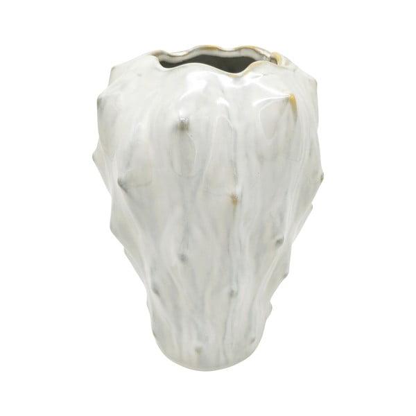Ceramiczny wazon w kolorze kości słoniowej PT LIVING Flora, wys. 23,5 cm