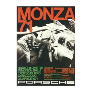 Plakát Monza 1971 - Porsche Reprint, 70x50 cm