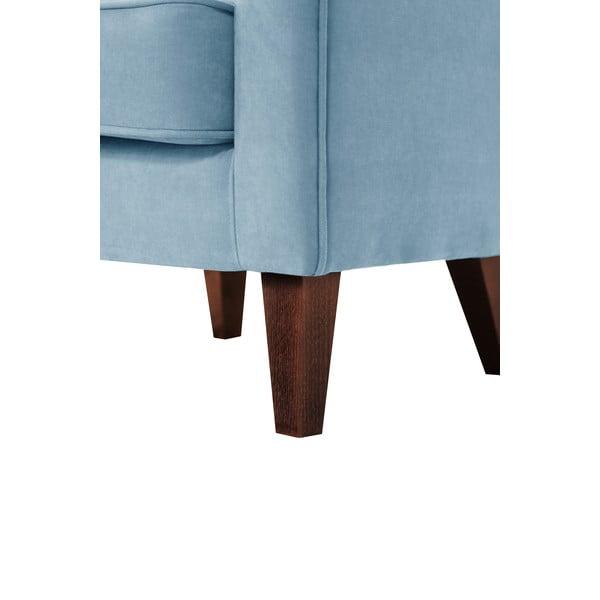 Světle modré křeslo Jalouse Maison Kylie