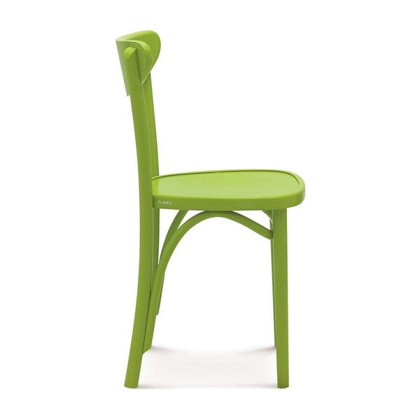Sada 2 zelených dřevěných židlí Fameg Helle