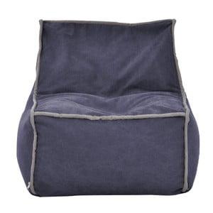 Modrý modulový sedací vak se šedým lemem Poufomania Funky