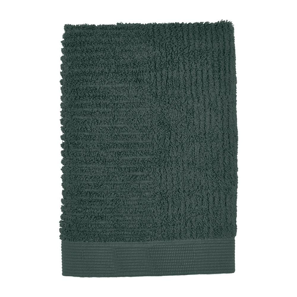 Tmavě zelený ručník Zone Classic, 50 x 70 cm