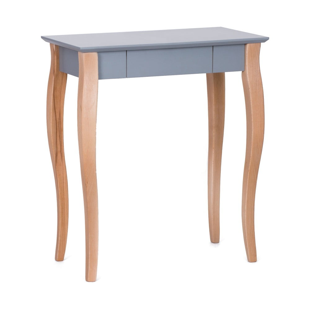 Tmavě šedý psací stůl Ragaba Lillo, délka 65 cm