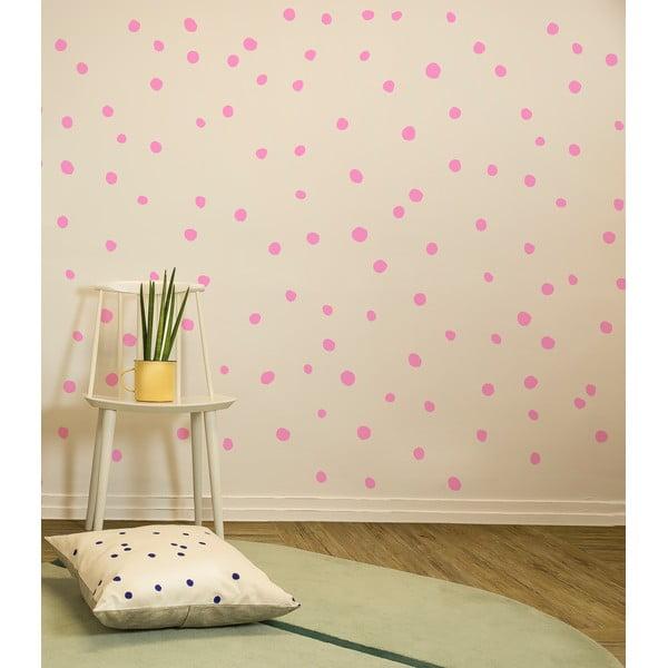 Samolepky Polka Dots, růžové