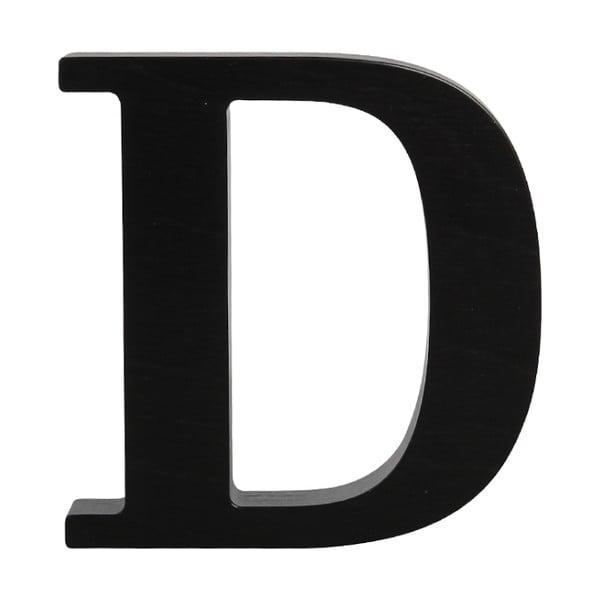Černé dřevěné písmeno Typoland D
