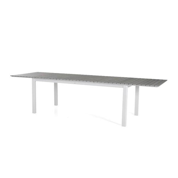 Bílo-šedý zahradní jídelní stůl Brafab Tilos, 224x92cm