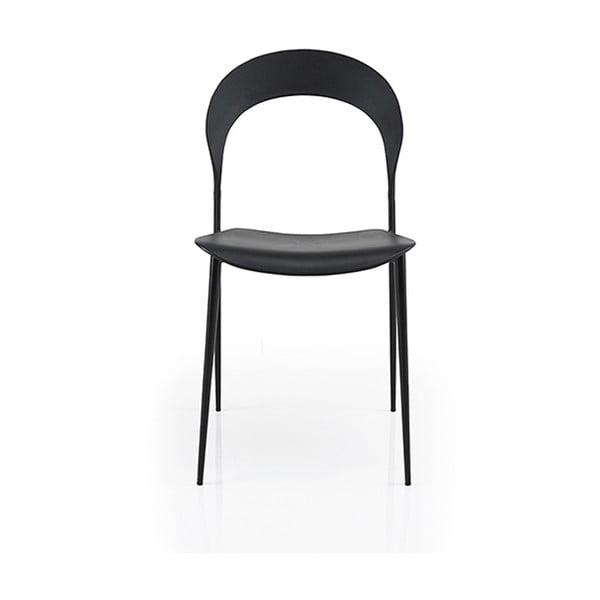 Sada 2 černých židlí Garageeight Selfoss
