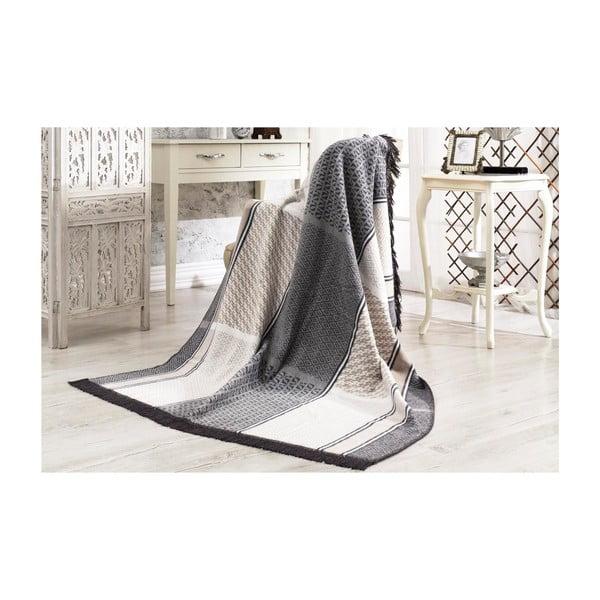 Koc z domieszką bawełny Aksu Albus, 152x127 cm
