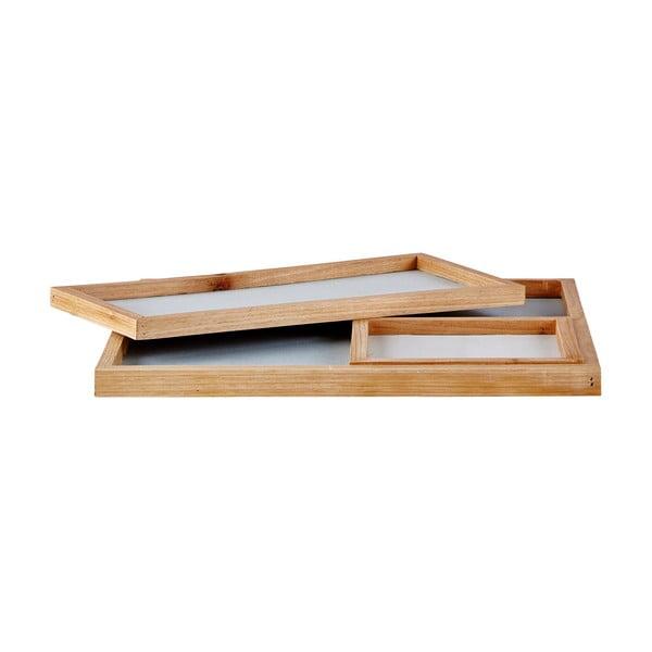 Sada 3 mramorových podnosů Ocean Blue Holz
