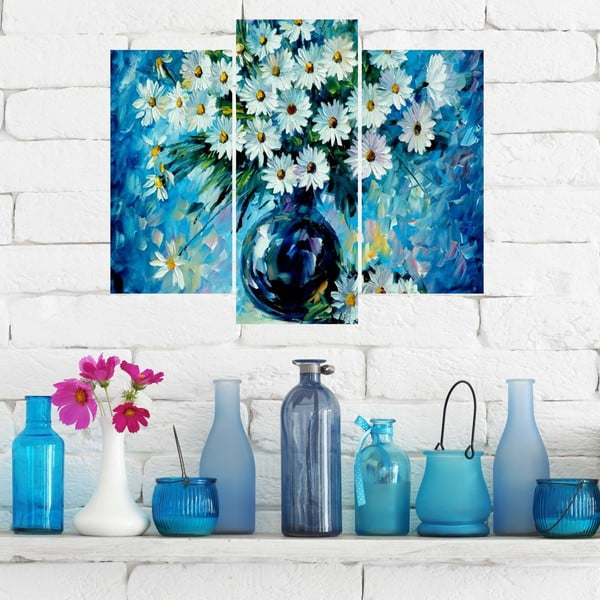 3dílný obraz Blue Art