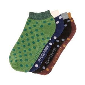 Sada 4 párů kotníkových unisex ponožek Black&Parker London Gillingham,velikost37/43