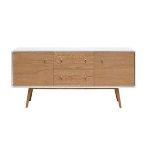 Nízká komoda ze dřeva bílého dubu Unique Furniture Turin