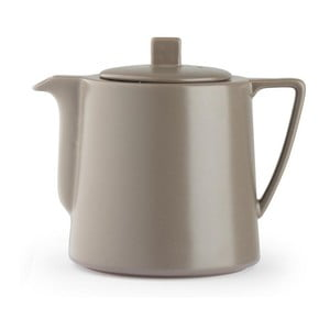 Šedohnědá keramická konvice se sítkem na sypaný čaj Bredemeijer Lund, 1,5 l