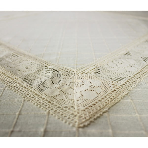 Ubrus Natural Lace, 160x160 cm
