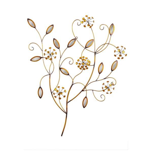 Nástěnná dekorace Bronze Flowers, 84x68 cm