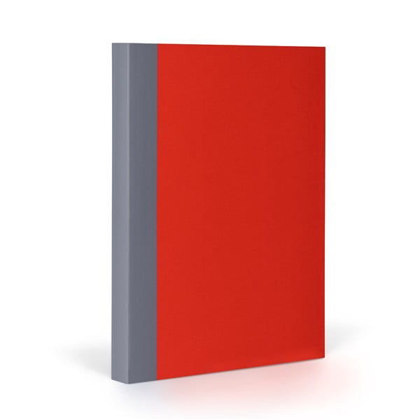 Zápisník FANTASTICPAPER A5 Cherry/Grey, čtverečkový