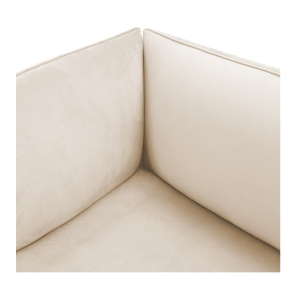 Šedokrémový pravý rohový modul pohovky Vivonita Velvet Cube
