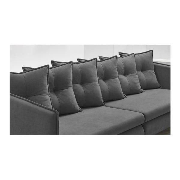 Canapea cu 4 locuri Bobochic Riga, gri închis