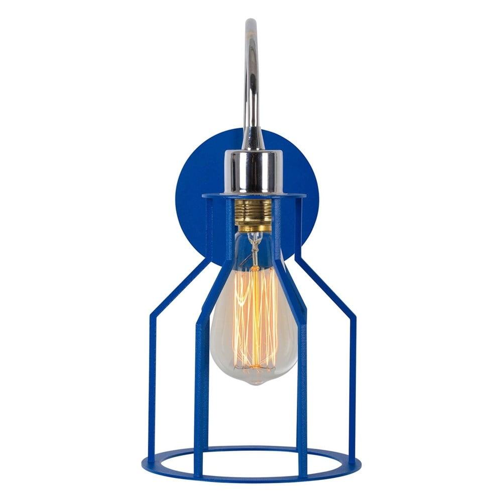 Modrá nástěnná lampa Cage Drop