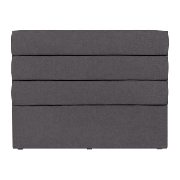 Tmavě šedé čelo postele Mazzini Sofas Pesaro, 180 x 120 cm