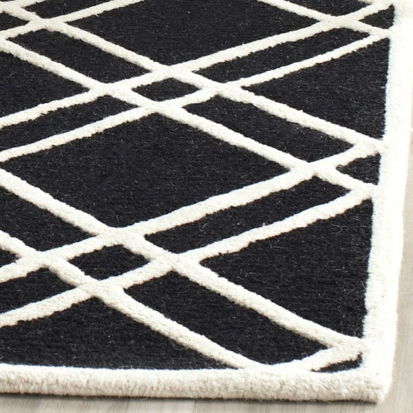 Vlněný koberec Mati Black, 152x243 cm