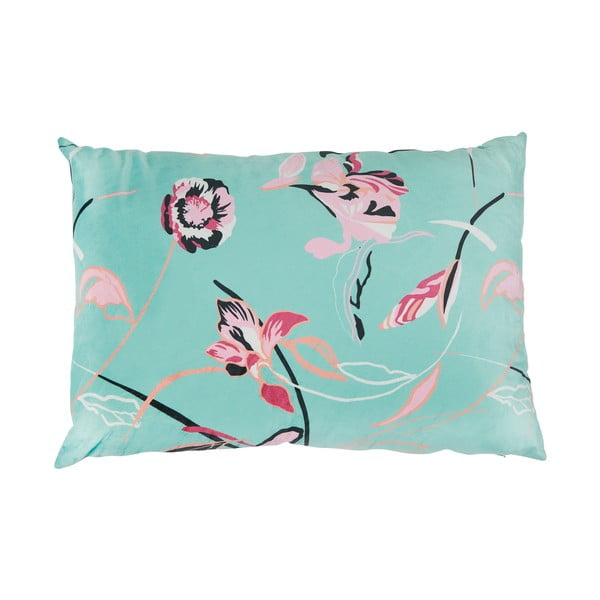 Mätovozelený vankúš Miss Étoile Flowery, 60 × 40 cm