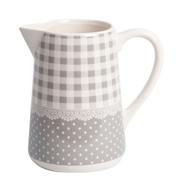 Džbánek Grey Dots&Checks, 19 cm