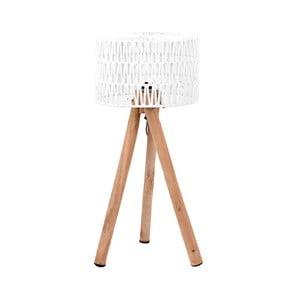 Bílá stolní lampa zmangového dřeva LABEL51 Stripe