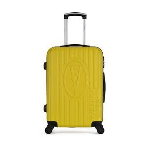Žlutý cestovní kufr na kolečkách VERTIGO Valise Grand Cadenas Integre Malo, 47 x 72 cm