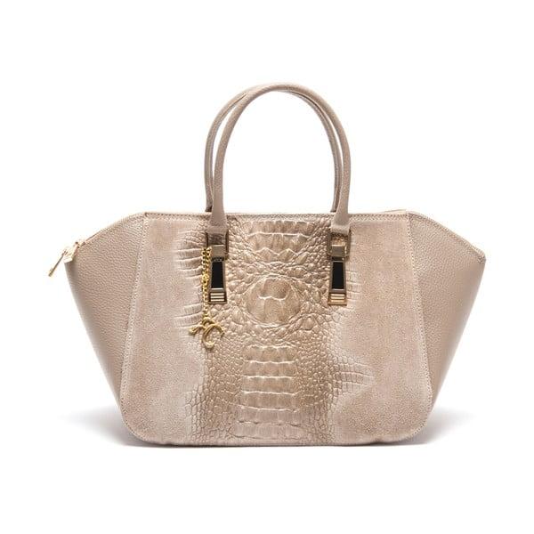 Kožená kabelka Renata Corsi 6944, krémová