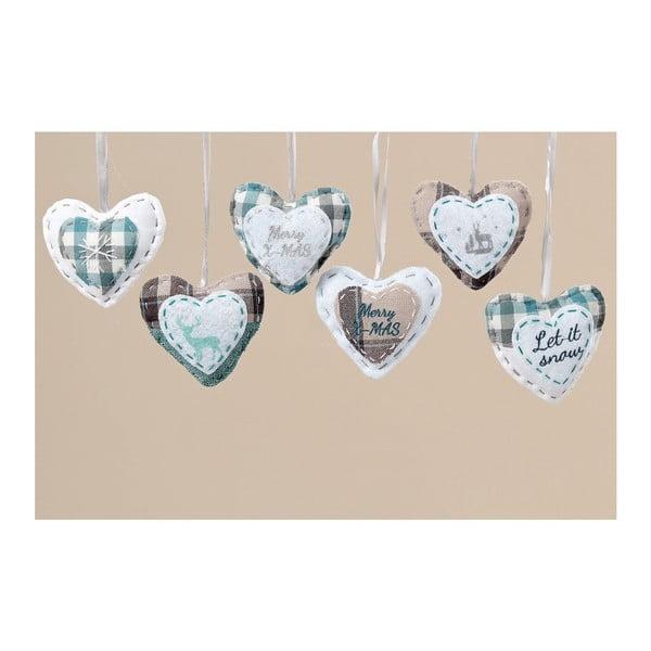 Sada 6 ks závěsných dekorací Cozy Heart