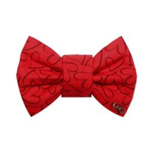 Papion cu inimioare,  Funky Dog Bow Ties, accesoriu pentru câine, mărimea L, roșu
