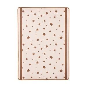 Dětský béžový koberec Zala Living Stars&Hearts,100x140cm