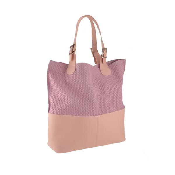 Kožená kabelka Hamal, růžová