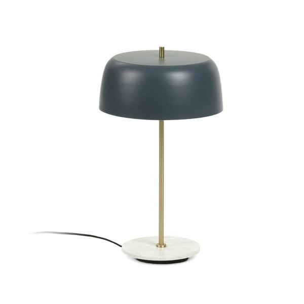 Tmavě modrá stolní lampa La Forma Binary, výška 31 cm