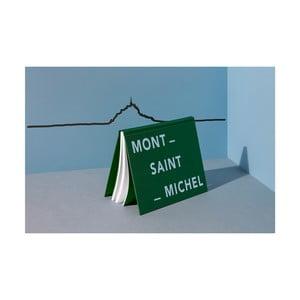 Černá nástěnná dekorace se siluetou města The Line Mont-Saint-Michel XL