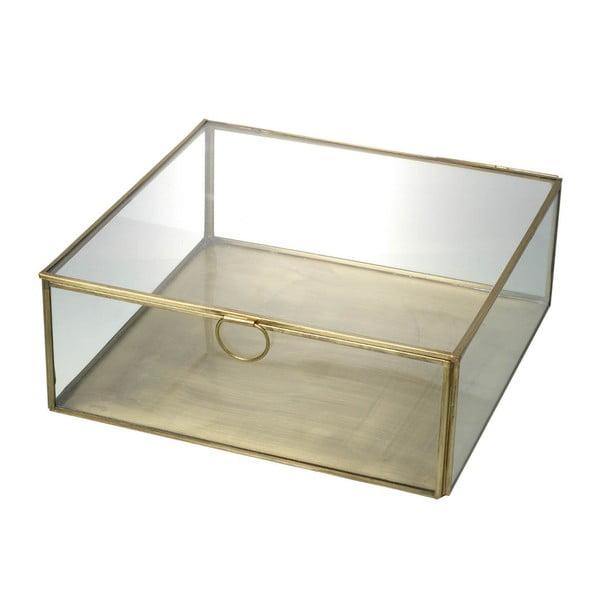 Skleněný box Parlane Gold, 24 cm
